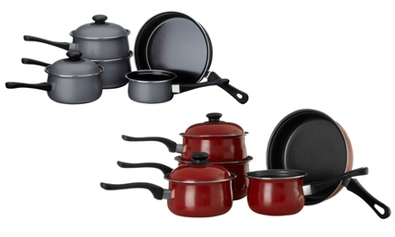 Premier Housewares Five-Piece Non-Stick Carbon Steel Cookware Set in Choice of Colour