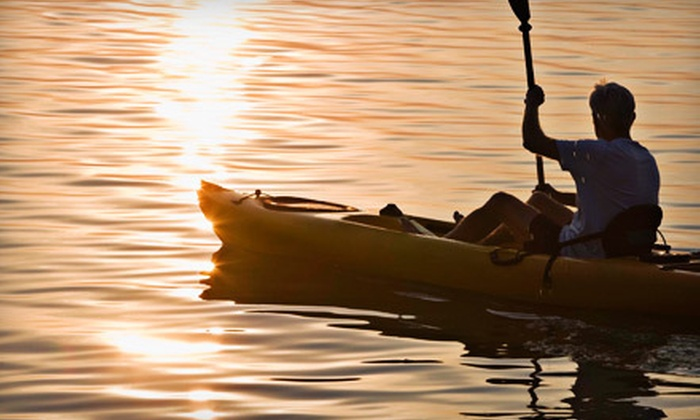 Baldwin Canoe Rental - Yates: Four-Hour Kayak Rental for Two or Canoe Rental for Up to Two Adults and One Child from Baldwin Canoe Rental (Half Off)