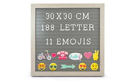 Lavagna con lettere in legno