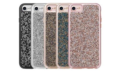 Diamond Platinum Hybrid Bumper Case for iPhone 7 or 7 Plus