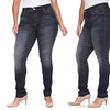 VIP Buttlifter Jeans with Marble Wash in Plus Size