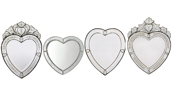 Vintage Style Venetian Heart Shaped Mirrors From 99 98 With Free Delivery