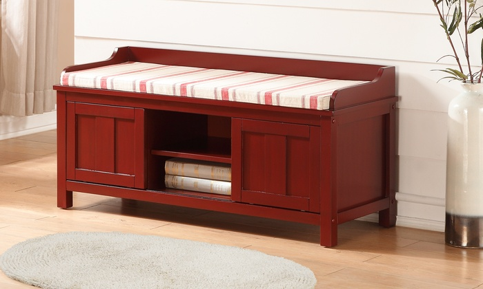 Lakeville Red Storage Bench ...