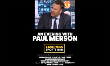 An Evening with Paul Merson on 5 October at Lashings Sports Bar & Restaurant (Up to 34% Off)