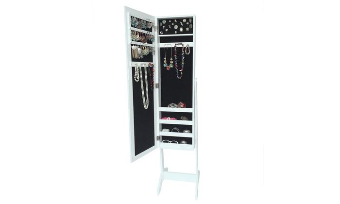 Miroir coffre bijoux groupon for Coffre a bijoux miroir