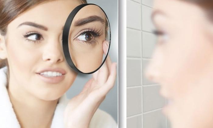 1 ou 2 miroirs grossissants de salle de bain x10 avec ventouses dès 590€ (67% de rduction) livraison offerte