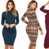 Women's Long Sleeve Bodycon Midi Dress