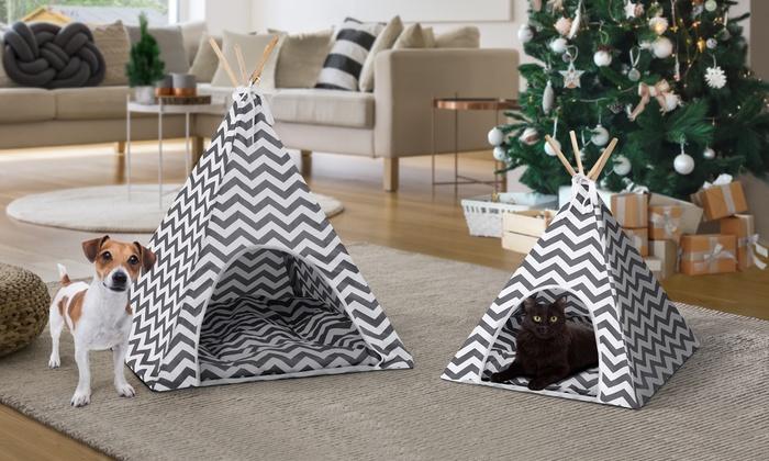 jusqu 39 71 tipi pour animaux groupon. Black Bedroom Furniture Sets. Home Design Ideas