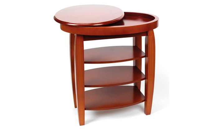 ... Groupon Goods Global GmbH: Swivel Top Side Table With Free Delivery ...