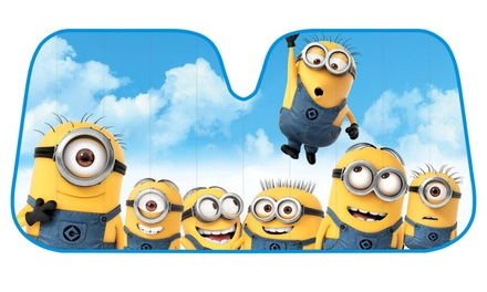 Minions Folding Jumbo-Size Car Sunshade