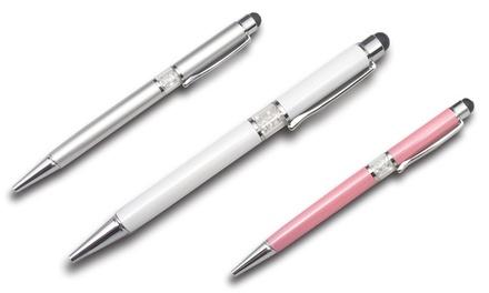 1x, 2x oder 3x Philip Jones Kugelschreiber mit Kristallen von Swarovski® in Silber, Weiß oder Rosa
