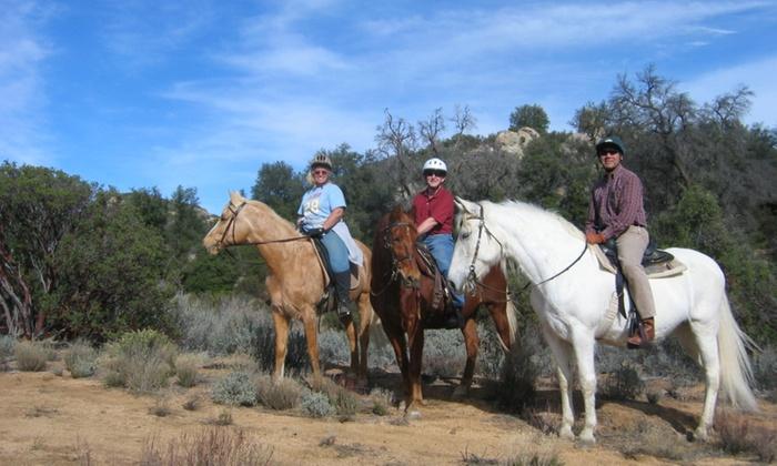 Distinction Ranch - Laguna-Pine Valley: $53 for $100 Worth of Horseback Riding — Distinction Ranch