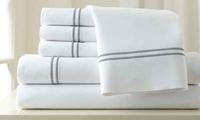 6-Piece 1000TC Cotton Rich Italian Hotel Double Marrow Hem Sheet Set
