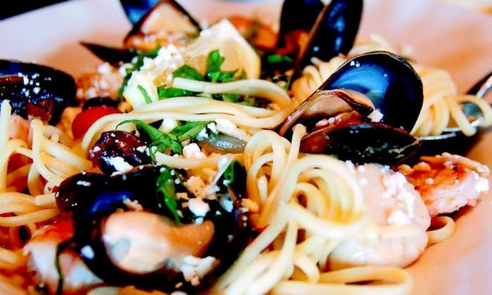 Pomodoros Greek & Italian Cafe - South Asheville Long Shoals Road Location: Mediterranean Cuisine for Lunch, Brunch or Dinner at Pomodoros Greek & Italian Café (Up to 50% Off)