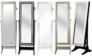 Full Length Cheval Mirror Jewelry Armoire Groupon