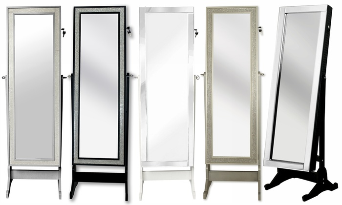 Full Length Cheval Mirror Jewelry Armoire: Glam And Glitzy Full Length  Cheval Mirror ...
