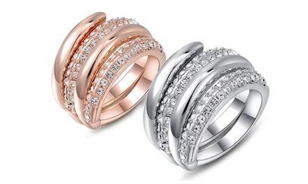 1x oder 2x Ring Sintra in der Farbe Silber oder / und Roségold