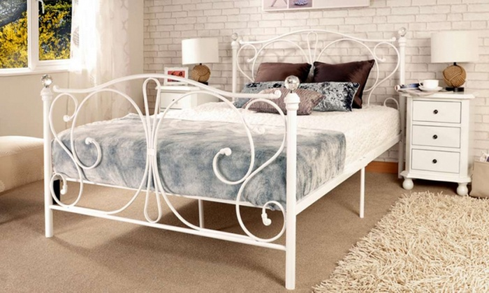 Crystal Bed Frame with Optional Mattress