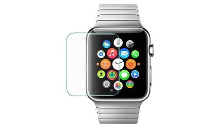 1 o 2 protectores de pantalla de vidrio templado para Apple watch