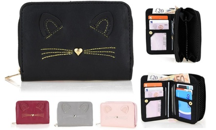 Multi-Compartment Cat Wallet