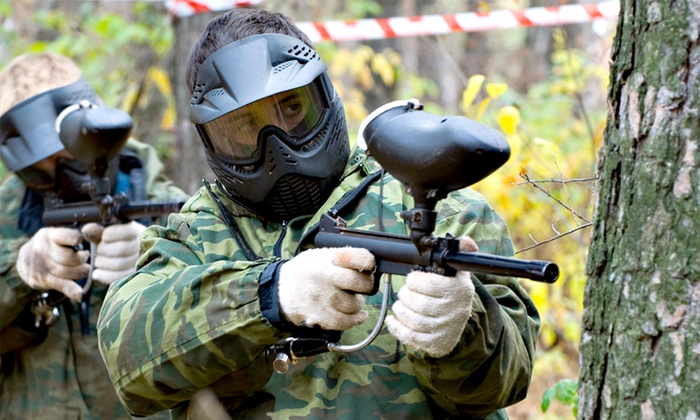 Full Day of Paintballing With 100 Balls Each from £2 at Hot Shots