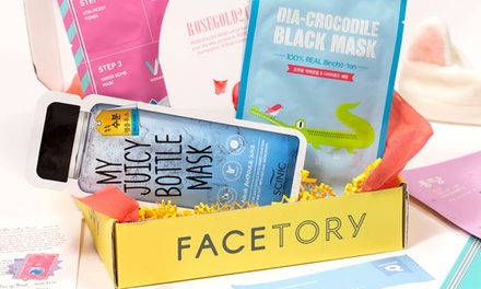 Subscription of Sheet Masks or $40 Gift Card at FaceTory (Up to 20% Off). Three Options Available