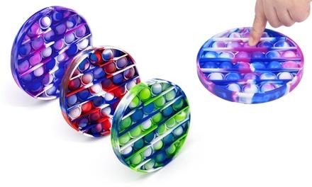 1, 2 ou 3 jouets anti-stress Fidget Pop effet teinture par nœuds
