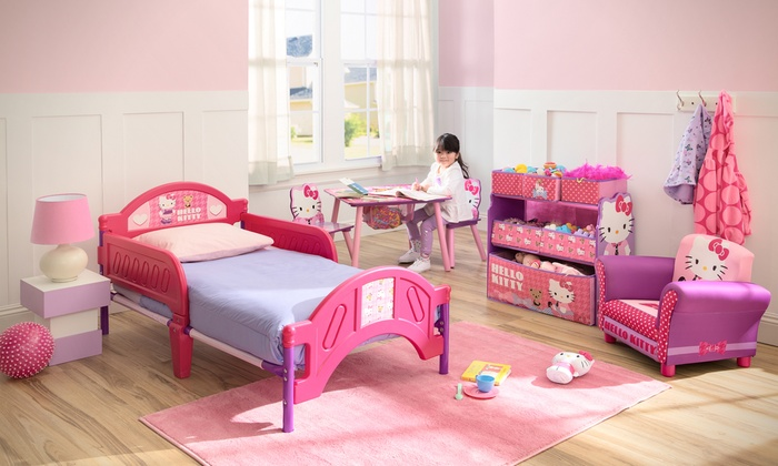 e47628704 Hello Kitty Plastic Toddler Bed | Groupon Goods