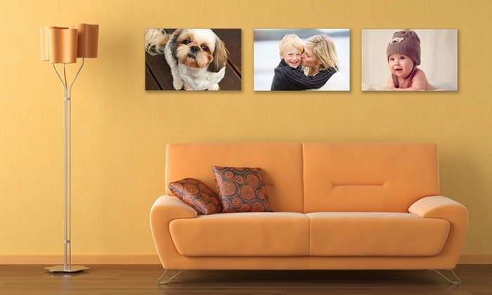"""Up to 30"""" x 20'' Personalised Canvas from Your Image on Canvas (Up to 69% Off)"""