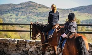 oferta: Paseo a caballo para 2 o 4 personas y degustación de tostas con bebida desde 29,95 € en Prados Monteros