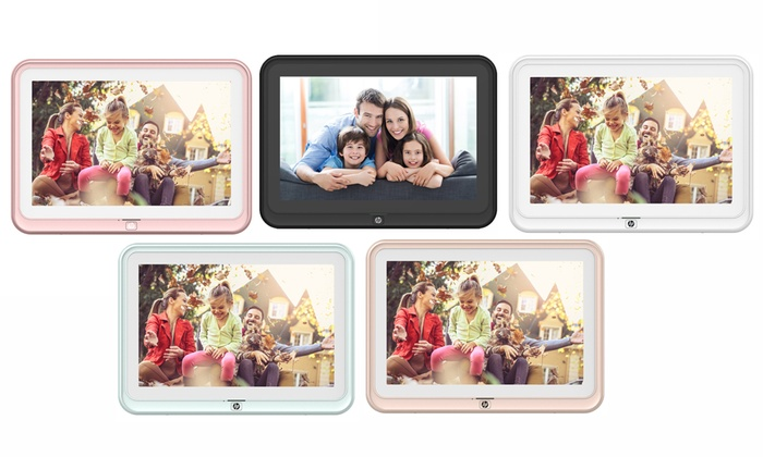 Up To 20% Off on HP WiFi Digital Picture Frame | Groupon Goods
