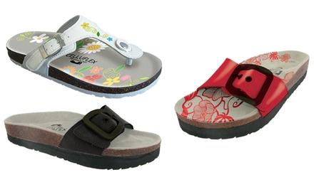 Une paire de sandales minceur Celluflex, taille et coloris au choix