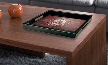 Fan Creations NCAA Distressed Serving Tray