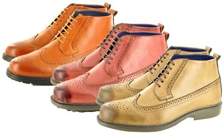 Men's Ankle Brogue Boots