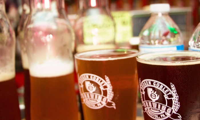 Broken Goblet Brewing - Broken Goblet Brewing: Beer Sampling for Two or Four with Beer Carafes and Tokens at Broken Goblet Brewing (Up to 50% Off)