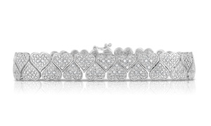 1.00 CTTW Genuine Diamond Heart Bracelet at 1.00 CTTW Genuine Diamond Heart Bracelet, plus 9.0% Cash Back from Ebates.