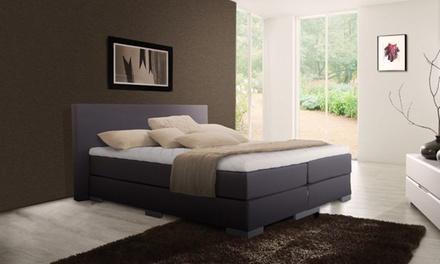 Sommier Monaco avec matelas, tête de lit et surmatelas, coloris et dimensions au choix, dès 599€ (jusqu'à -79%)