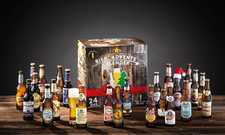 Beer Advent Calendar Including 24 Beers and Tasting Glass With Free Delivery