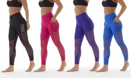 Bally Fitness Women's High-Waist Power Tek Leggings with Pockets