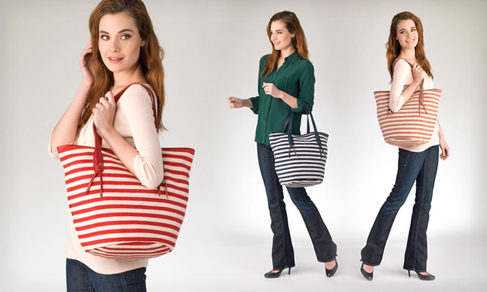 Giando Massi Tote Bags: $58.99 for a Giando Massi Cestino Striped Tote Bag ($180 List Price). Multiple Colors Available. Free Shipping.