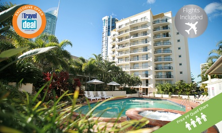 Gold Coast, Surfers Paradise: From $299PP for a 5N Queensland Getaway + Flights and Bottle of Wine at Palazzo Colonnades