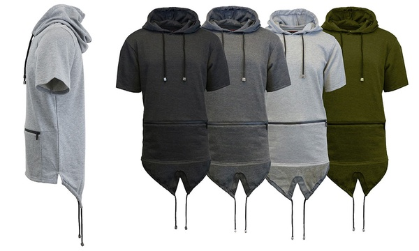 bcd2f5d4f Deal Options. Men's Short-Sleeve Fishtail Hoodie with Zipper