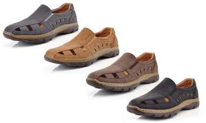 Men's Casual Slip-on Nu-Buck Comfort Loafers