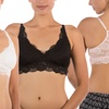 Olive Street Lace Bralette (3-Pack) (Size S)