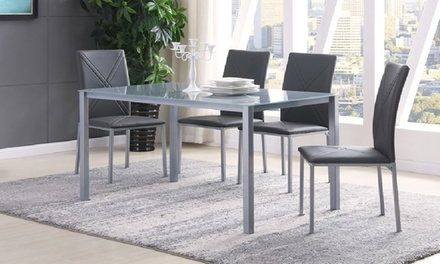 Four  or Six Chair GRS Glass Table Dining Set with Free Delivery