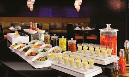 Buffet with Soft or House Drinks for Up to Four at The Market Place at 5* Marriott Hotel Al Jaddaf (Up to 49% Off*)