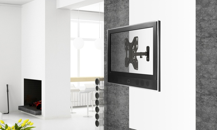 Full-Motion TV Wall Mounts: Full-Motion TV Wall Mount for 13–23 In. or 17–42 In. Screens from $21.99–$29.99