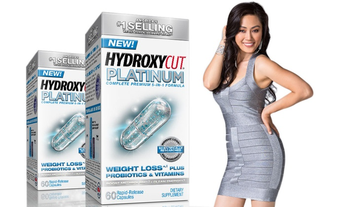 Buy 1 Get 1 Free: Hydroxycut Platinum (60-Count) Weight Loss Supplement plus Probiotics & Vitamins