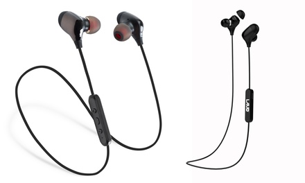 Laud LX6 Sweatproof Bluetooth Wireless In-Ear Earbuds with Mic