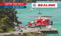 $199 for Return Car Ferry Trip to Waiheke Island with Up to 4 Adults Including Driver with SeaLink (up to $320.50 value)